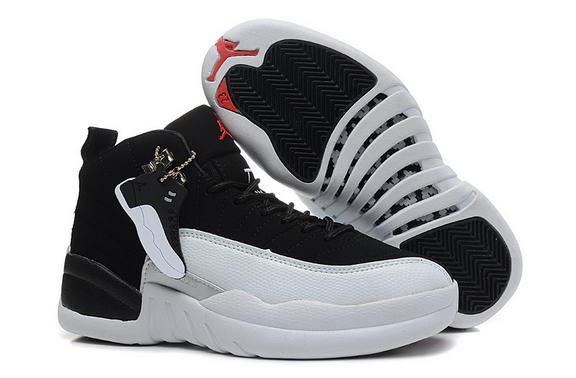 Air Jordan 12 Retro Playoff Womens Shoes Black/white red